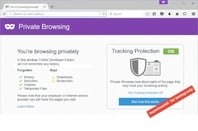 Firefox experimental private browsing mode