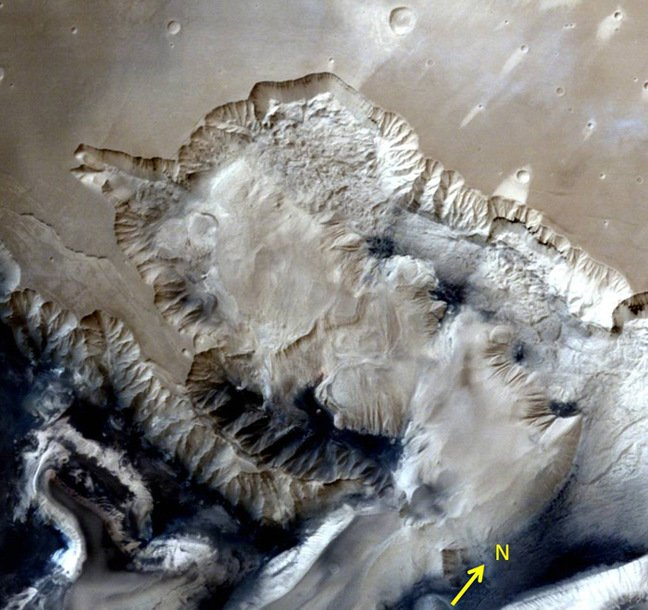 One of the images of the Ophir Chasma. Pic: ISRO