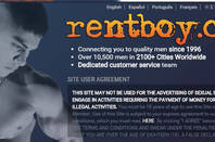 rentboy.com warning screen