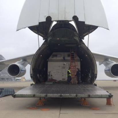 NBN SkyMuster satellite on Antonov transport plane
