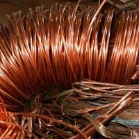 stripped copper for recycling