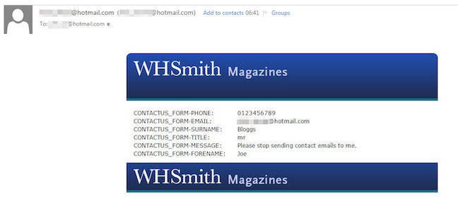 Oh dear whsmith sensitive customer data spaffed to worlddog the whsmith data howler solutioingenieria Choice Image