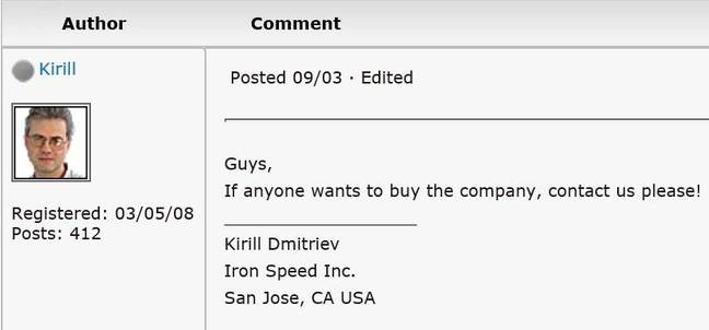 Does anyone want to buy the company says former Director of Engineering
