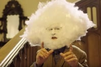 Man with head in the cloud