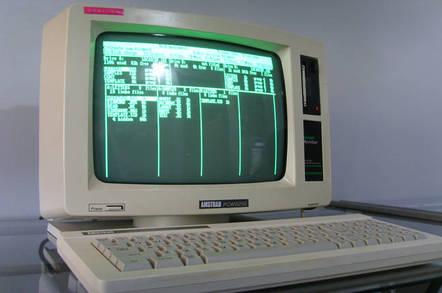 Amstrad PCW 8256 running locoscrip