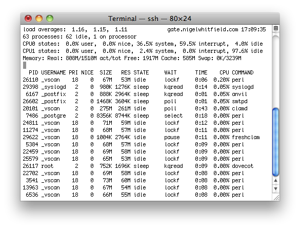 OpenBSD System Load
