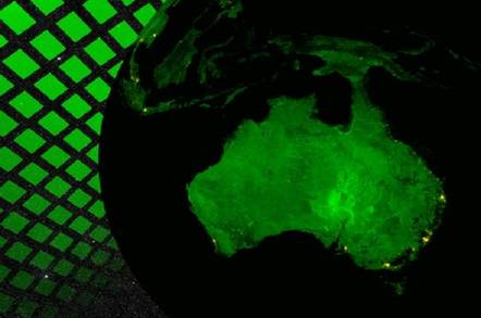 space view of australia in arty green