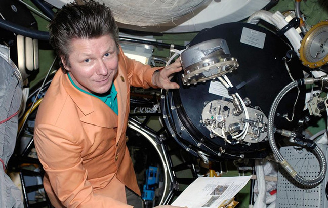 Padalka aboard the ISS. Pic: NASA