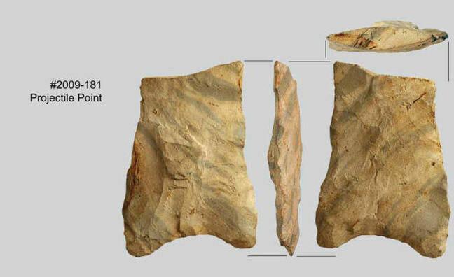 Stone tools dug up near Redmond. Pic credit: SWCA Environmental Consultants