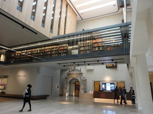Blackwell Hall atrium of the Weston Library, photo SA Mathieson