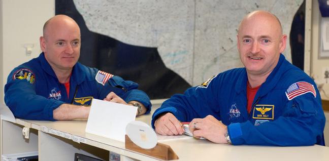 Mark and Scott Kelly. Pic: NASA