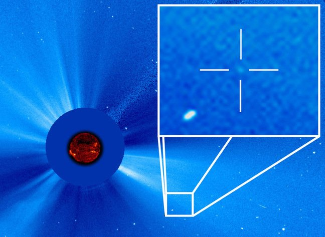 The 3,000th comet spotted by SOHO. Pic: NASA