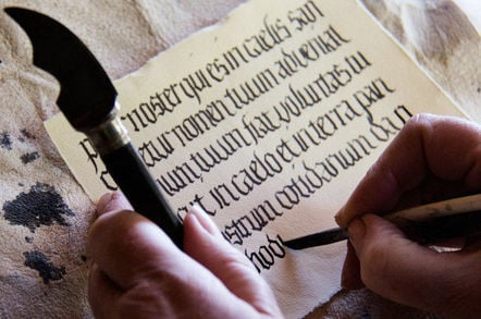 Medieval writing. Pic: Hans Splinter
