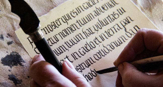 Medieval writing. Pic: Hans Splinter