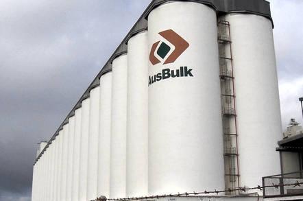 Grain silos by Scott Davis