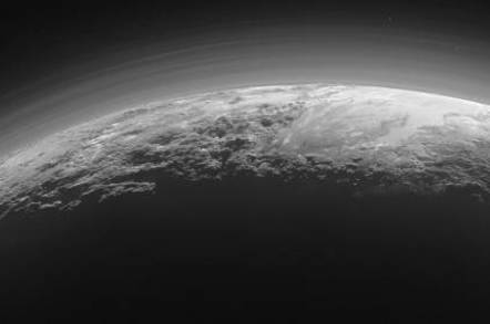 New Horizons shot of crescent pluto scaled