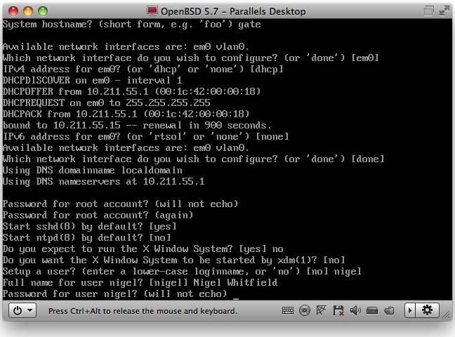 OpenBSD installation