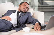 Asleep on the sofa image via Shutterstock