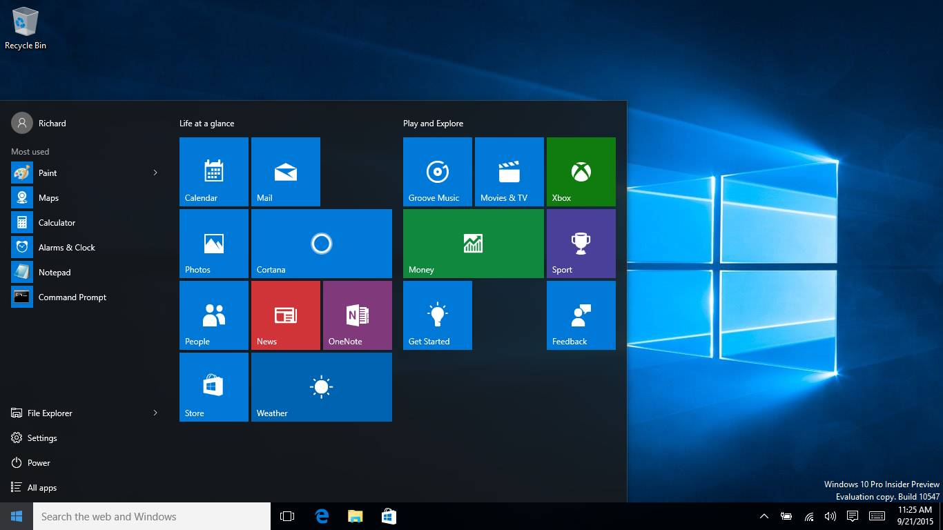 A locate for the troubled Windows 10 First step menu