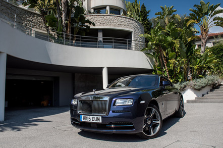 The quarter of a million pound Rolls Royce Wraith outside Villa Mirador in St Jean Cap Ferrat