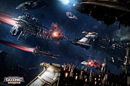 Battlefleet Gothic. Pic: Games Workshop