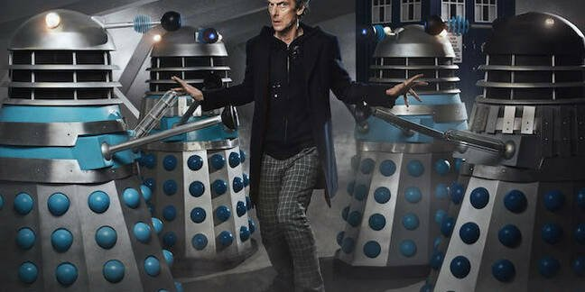 Time Lord with Daleks in Doctor Who – The Witch's Familiar. Pic credit: BBC