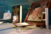 Welchman's book and a portrait of him painted by his second wife, cubist painter Fannie Hillsmith. ©ShaunArmstrong/mubsta.com