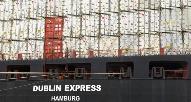 Container ship, photo via Dmitry Chulov Shutterstock