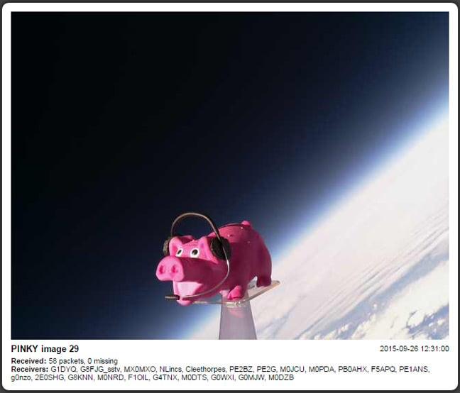 SSDV still from the Pinky flight