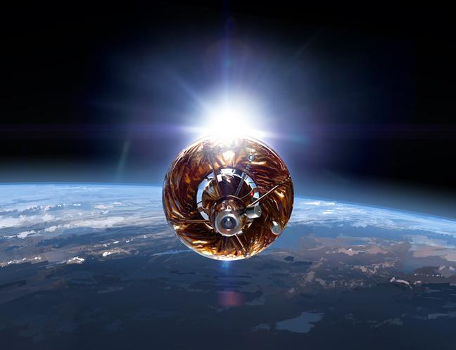 Artist's impression of the Moonspike spacecraft in orbit