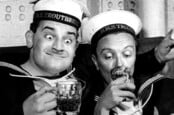 Ronnie Barker and Tenniel Evans in The Navy Lark