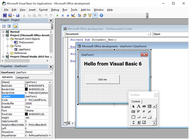 You lucky devs: It's Microsoft Office 2016     and VBA lives on