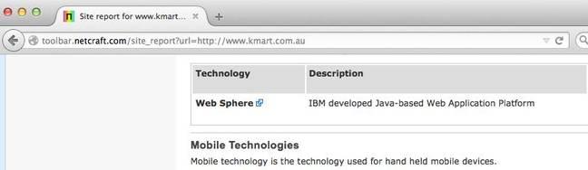 Kmart report - Netcraft