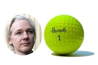 Julian Assange and Harrods golf ball