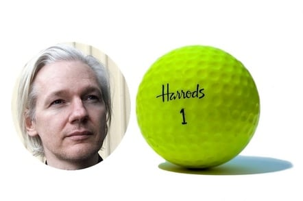 Julian Assange and Harrods golf ball