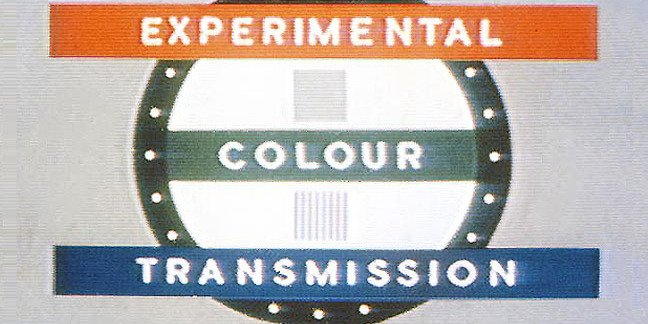 Vintage BBC experimental colour transmission testcard section