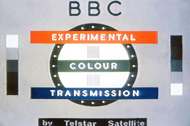 Vintage BBC experimental colour transmission testcard section