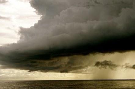 Huge Clouds Ocean