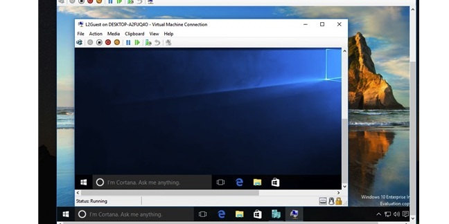 Nested virtualisation in Windows 10