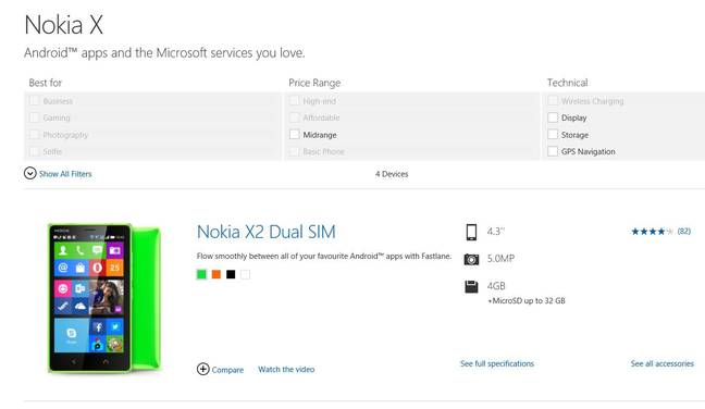 Nokia X: Microsoft already has Android phones, but without Google Play services