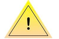 Fake yellow triangle