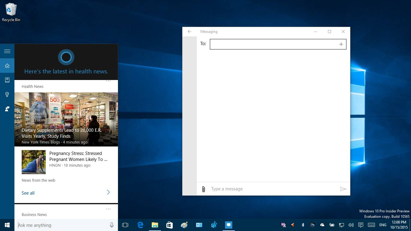 Windows 10 frame 10565