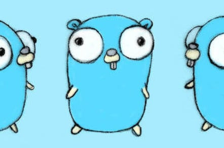 The Go language Gopher mascot