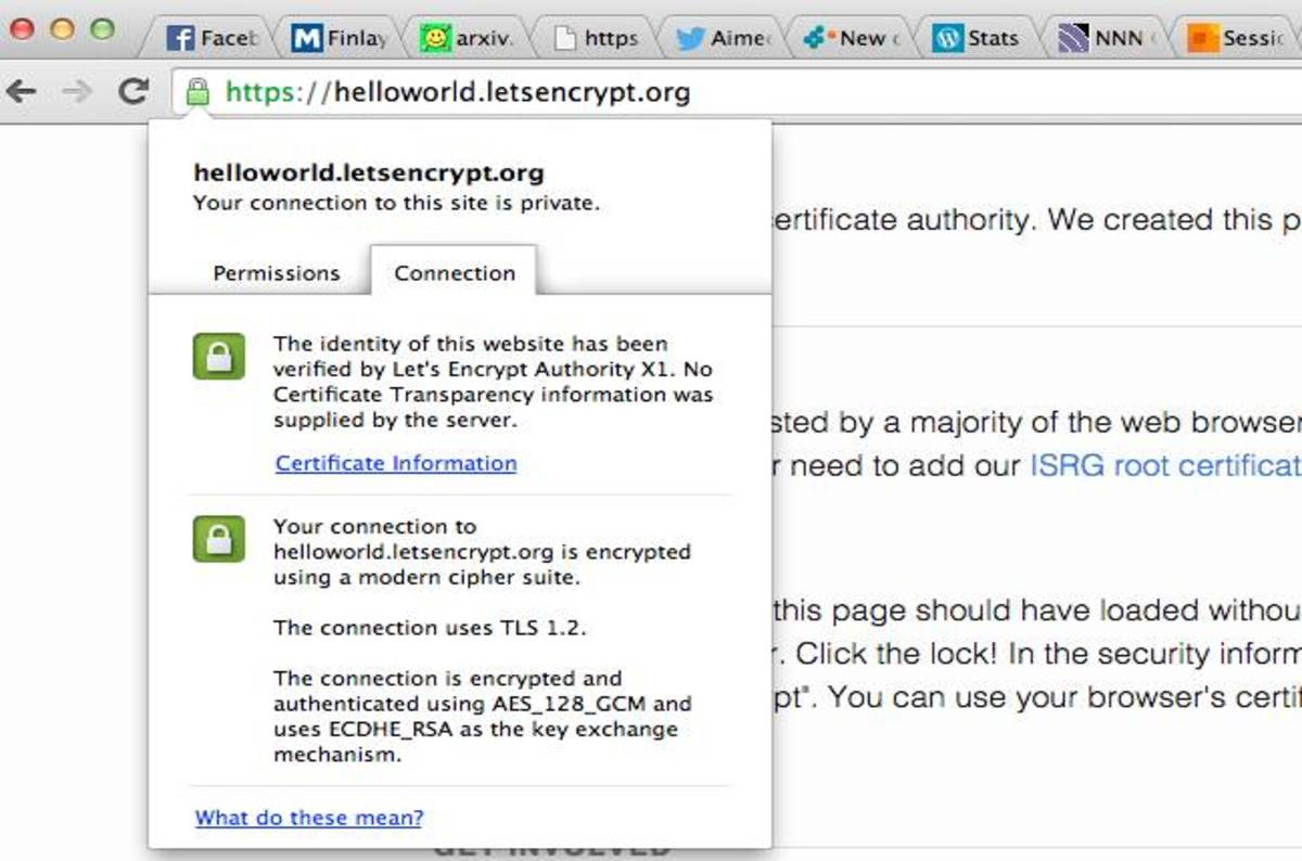 photo image Let's Encrypt updates certificate automation, adds splats
