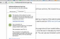 Let's Encrypt browser certificate