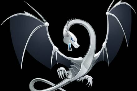"""The LLVM Dragon logo, said to have """"connotations of power, speed and intelligence"""""""