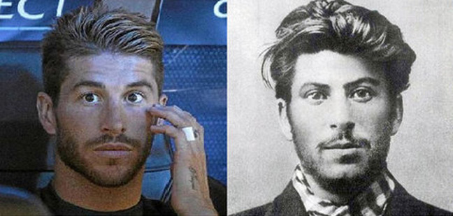 Sergio Ramos and a young Stalin