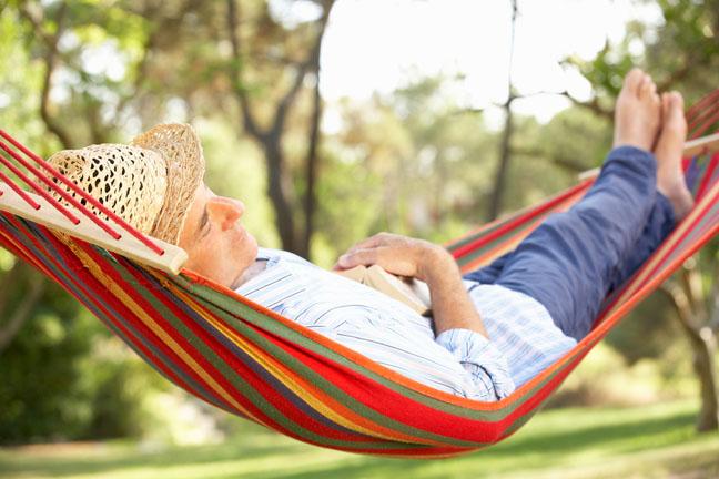 Asleep hammock, photo via Shutterstock