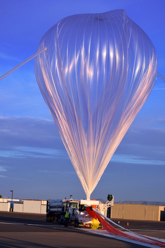 The test flight balloon before launch. Pic: World View