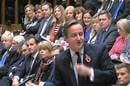 David Cameron during PMQs on Wednesday, 28 October. Pic credit: Parliament TV